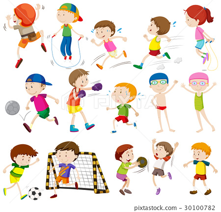 Children doing different activities 30100782