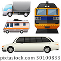 Different vehicles on white background 30100833