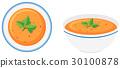 Vegetable soup in bowls 30100878
