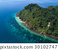 Nyaung Oo Phee lsland with white sandy beach.  30102747