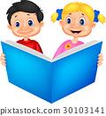 Children reading a book 30103141