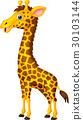 长颈鹿 动物 卡通 30103144
