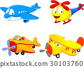 Cartoon plane 30103760