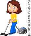Mom with vacuum cleaner 30103773