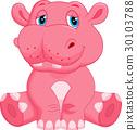 Hippo cartoon 30103788