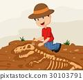 考古学 卡通 恐龙 30103791