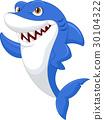 Cute shark cartoon 30104322