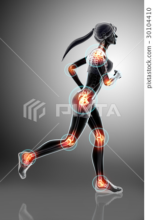 3d illustration - woman runing pose. 30104410