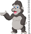 Gorilla cartoon presenting 30104490