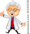 Professor cartoon thumb up 30104500