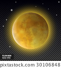 Realistic detailed full blue moon isolated on 30106848