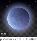 Realistic detailed full blue moon isolated on 30106849