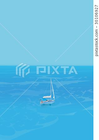바다, 요트, 푸른 하늘 30106927