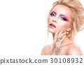 Beautiful young model with bright make-up 30108932