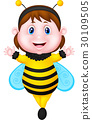 Little girl dressed as bee 30109505
