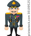Cartoon military general 30109525