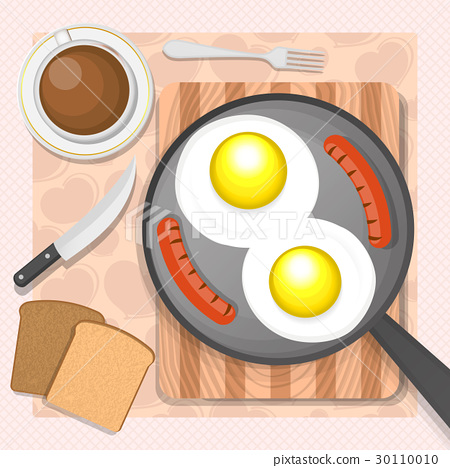 Scrambled eggs with sausages 30110010
