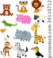 Wild animal cartoon collection set 30110712