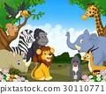 动物 卡通 森林 30110771