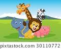 벡터, 동물, 짐승 30110772