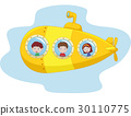 Cartoon yellow submarine 30110775