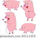 Cartoon fat pig collection 30111355