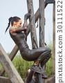 extrim race concept. Survival woman 30111522