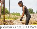 extrim race concept. Survival woman 30111528