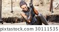 extrim race concept. Survival woman 30111535