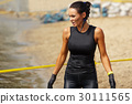 extrim race concept. Survival woman 30111565
