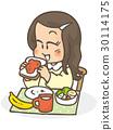 breakfast, girl, young 30114175