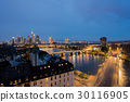 Frankfurt am Main skyline at night, Germany. 30116905