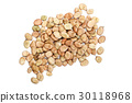 Dried broad beans on a white background 30118968