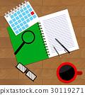 strategy, notebook, paperwork 30119271