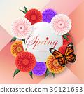 蝴蝶 多彩 大麗花 30121653