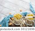 Chia oat pudding with quinoa, banana, pistachio 30121696