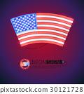 旗帜 旗 霓虹灯 30121728