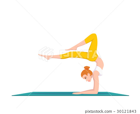 woman doing yoga 30121843