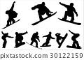 Snowboarding - vector 30122159