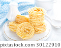 Raw pasta on white background closeup 30122910