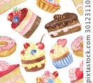 無縫的 蛋糕 向量 30123110