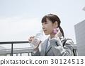 超越措施熱抑制的女商人測量水合作用 30124513