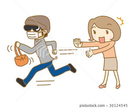 一个女人患有抢夺 30124545