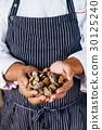 chef handing shiitake 30125240