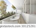 modern,white,terrace 30125261