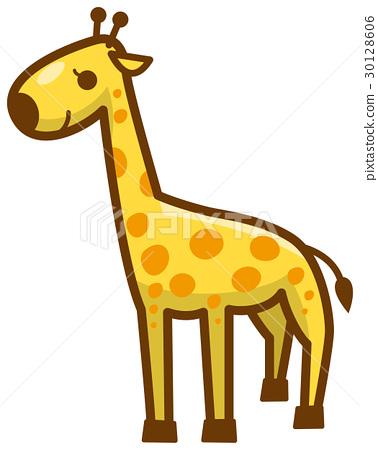 長頸鹿 矢量 白底 30128606