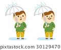 傘をさす男性 30129470