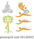 logo, lotus, massage 30130402