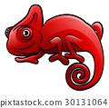 Chameleon Safari Animals Cartoon Character 30131064