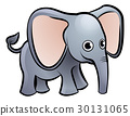 elephant, cartoon, vector 30131065